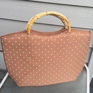 PICNIC Insulated lunch bag bamboo beach purse tote